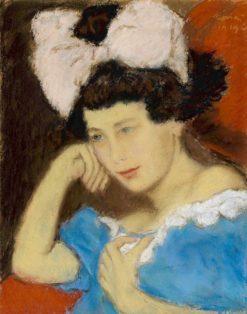 Portrait of Edit de Lukacs Lessner | József Rippl-Rónai | Oil Painting
