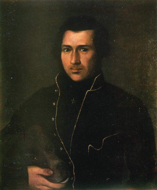 Portrait of E.P. Grebenka | Apollon Mokritsky | Oil Painting