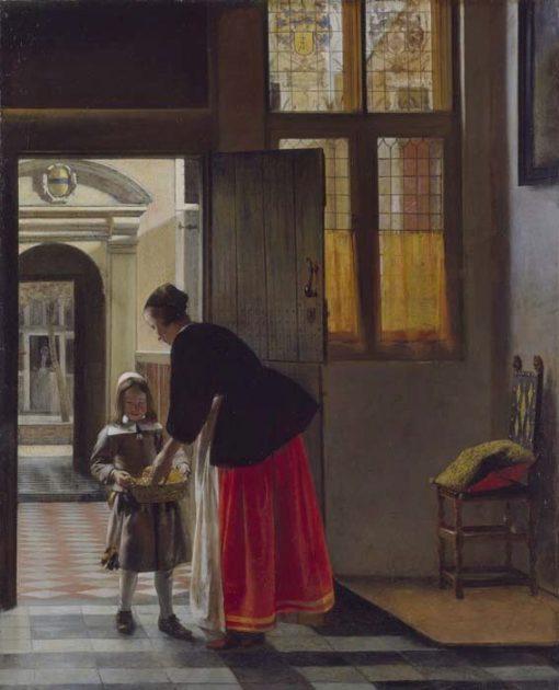 A Boy Bringing Bread   Pieter de Hooch   Oil Painting