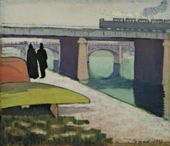 Iron Bridges at Asnières | Emile Bernard | Oil Painting