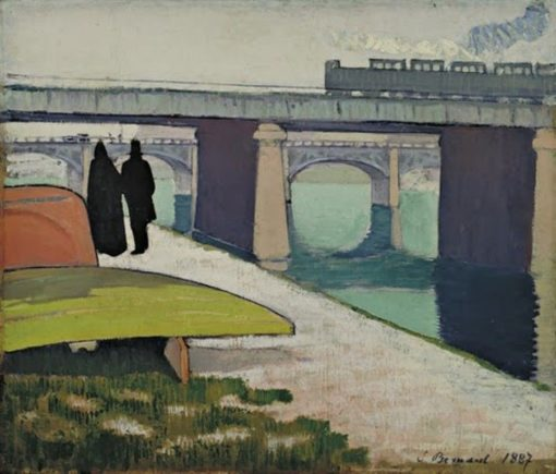Iron Bridges at Asnières   Emile Bernard   Oil Painting