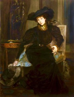 Lady in Black | Jacques-Émile Blanche | Oil Painting
