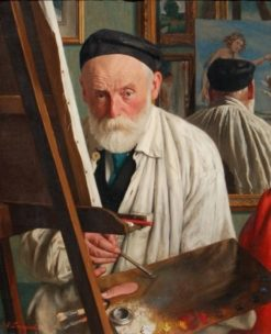 A confrater at work | Joseph Leempoels | Oil Painting