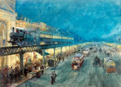 The Bowery At Night | William Louis Sonntag