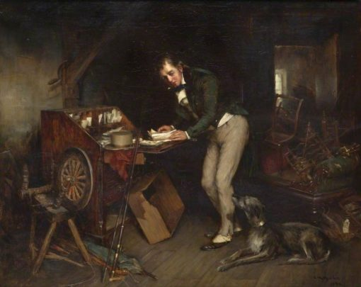 Sir Walter Scott Finding the Manuscript of 'Waverley' in an Attic | Charles Martin Hardie | Oil Painting