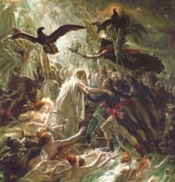 Ossian receiving the ghosts of the French heroes | Anne-Louis Girodet de Roussy-Trioson | Oil Painting