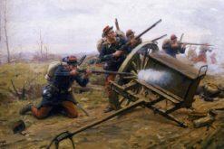 Combat d'infanterie sur une route | Paul-Louis-Narcisse Grolleron | Oil Painting