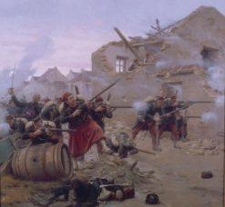 Combat dans les rues d'un village | Paul-Louis-Narcisse Grolleron | Oil Painting