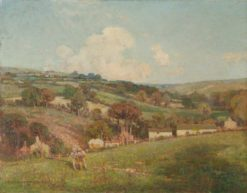 An Upland Farm | Benjamin Haughton | Oil Painting