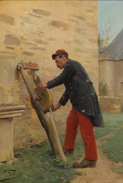 Sharpening the Knife | Paul-Louis-Narcisse Grolleron | Oil Painting