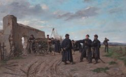 Preparing the cannon | Paul-Louis-Narcisse Grolleron | Oil Painting