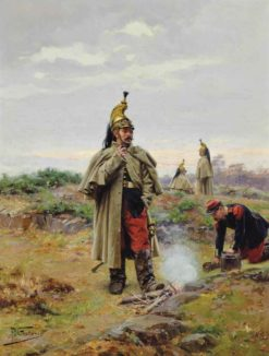 Dragoons breaking from battle | Paul-Louis-Narcisse Grolleron | Oil Painting