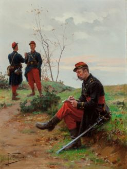 French Soldiers | Paul-Louis-Narcisse Grolleron | Oil Painting