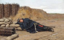 A sleeping Napoleonic soldier | Paul-Louis-Narcisse Grolleron | Oil Painting