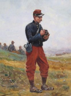 A Study of French Soldier | Paul-Louis-Narcisse Grolleron | Oil Painting
