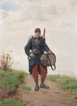 A French military drummer | Paul-Louis-Narcisse Grolleron | Oil Painting