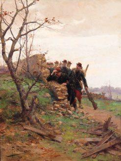 On manoeuvres | Paul-Louis-Narcisse Grolleron | Oil Painting
