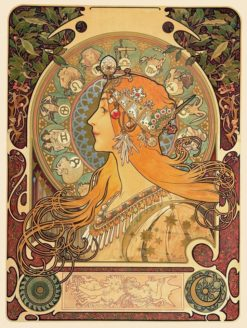 Zodiac | Alfons Mucha | Oil Painting