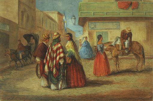Street Scene in Buenos Aires | Jean Leon Pallière | Oil Painting