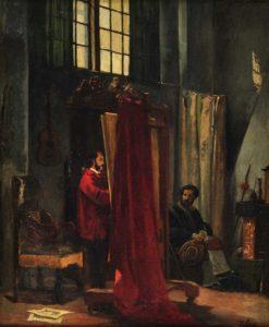 The Painter and His Model | Jean Leon Pallière | Oil Painting