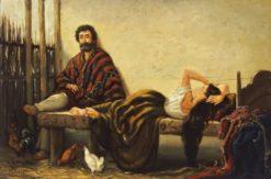 China descansando | Jean Leon Pallière | Oil Painting
