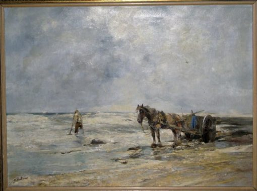 A fisher at the sea surf | Gregor von Bochmann | Oil Painting