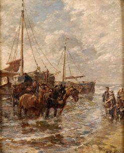 Landing of fishing boats | Gregor von Bochmann | Oil Painting