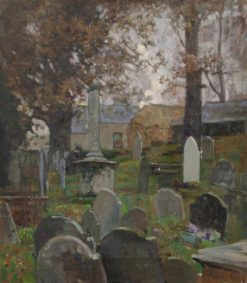 Church Graveyard | Benjamin Haughton | Oil Painting