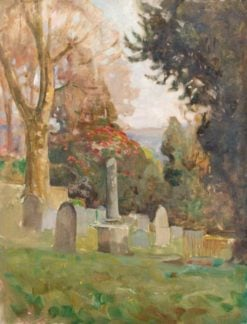 Churchyard | Benjamin Haughton | Oil Painting