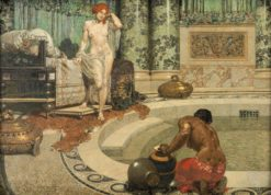 Roman Bath Scene | Alexander Rothaug | Oil Painting