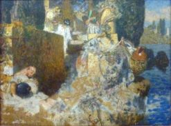 Sleeping Temple Guards | Alexander Rothaug | Oil Painting