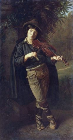 Boy Playing the Violin | Pavel Chistyakov | Oil Painting
