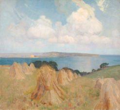 Cornfield with Stooks | Benjamin Haughton | Oil Painting