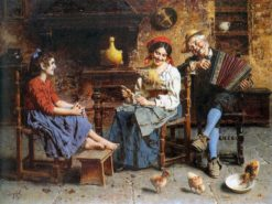 A Merry Song | Eugenio Zampighi | Oil Painting