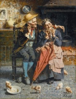 A Tender Moment | Eugenio Zampighi | Oil Painting