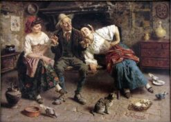 A Happy Story | Eugenio Zampighi | Oil Painting