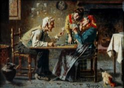 A Good Hand | Eugenio Zampighi | Oil Painting