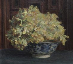 Cowslips in a Blue and White Bowl | Theodore Blake Wirgman | Oil Painting