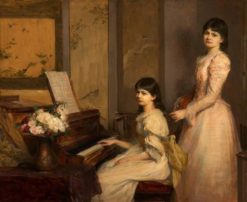 Dorothy and Marjory Lees | Theodore Blake Wirgman | Oil Painting
