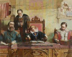 James VI Asleep at Church   John Ritchie   Oil Painting
