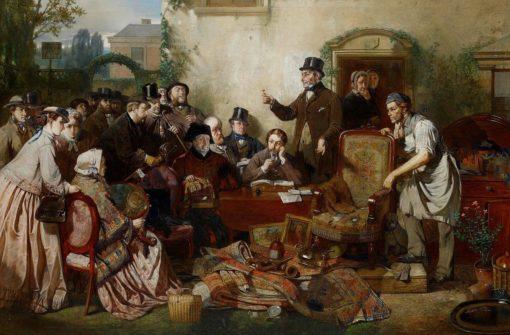 The captain's auction | John Ritchie | Oil Painting