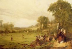 Village Cricket | John Ritchie | Oil Painting