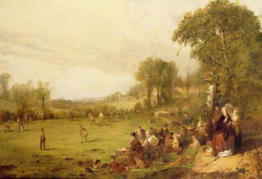 Village Cricket | John Ritchie | Oil Painting