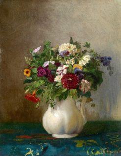 Still Life in a Jug   Vasily Petrovich Vereshchagin   Oil Painting