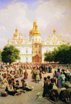 Kiev Monastery of the Caves | Vasily Petrovich Vereshchagin | Oil Painting