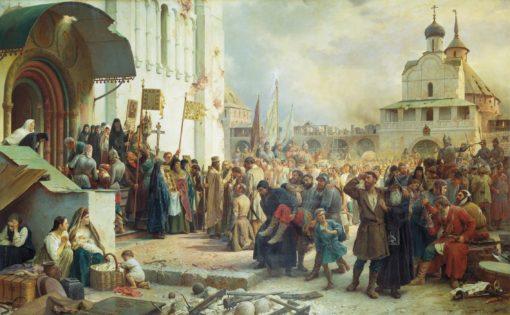 The Siege of the Trinity Monastery   Vasily Petrovich Vereshchagin   Oil Painting