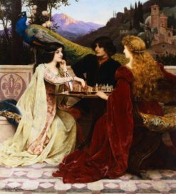 The Chess Players | Jacques Clement Wagrez | Oil Painting