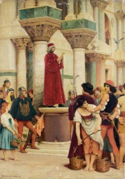 Proclamation of an edict in Venice in the 15th century | Jacques Clement Wagrez | Oil Painting