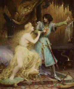 Tannhauser au Venusberg   Jacques Clement Wagrez   Oil Painting