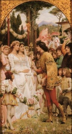 May Festival in Florence   Jacques Clement Wagrez   Oil Painting
